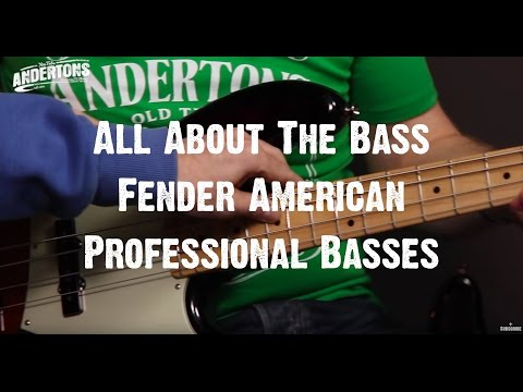 All About The Bass - Fender American Professional  Basses - New for 2017