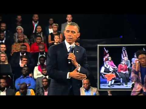 US PRESIDENT BARRACK OBAMA'S SPEECH AND INTERACTION ON THE YOUNG AFRICAN LEADER'S INITIATIVE