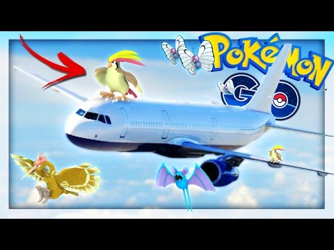 POKEMON GO ON THE AIRPLANE