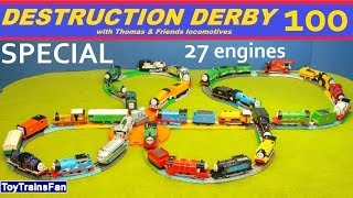 Thomas & Friends Destruction Derby #100 - SPECIAL - Trackmaster & Plarail toy trains for kids