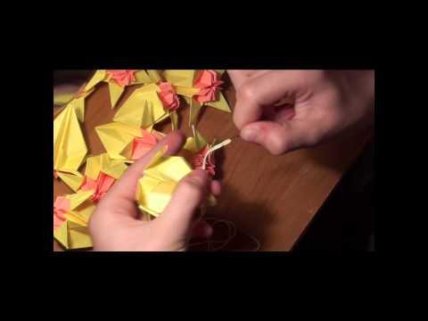 Оригами. Кусудама. Цветы (видеоурок) http://nashydetky.com