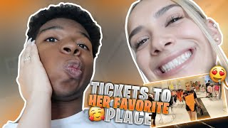 I SURPRISED MY CRUSH WITH TICKETS TO HER FAV PLACE! *im gonna make it official there*