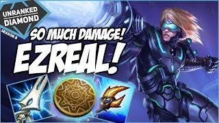 SO MUCH DAMAGE! DOUBLE TEAR EZREAL - Unranked to Diamond - Ep. 129 | League of Legends