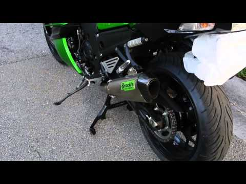 Brocks Performance Dual CT Exhaust for ZX14R comparison