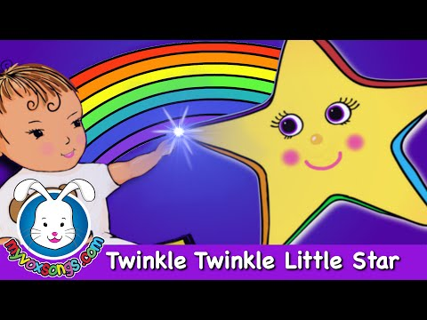 Twinkle Twinkle Little Star with Lyrics | Nursery Rhymes & Songs...