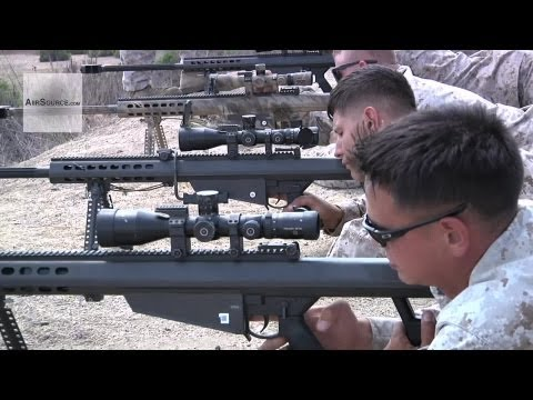 U.S. Marines - Barrett M82/M107 Sniper Rifle Live Fire Range | AiirSource