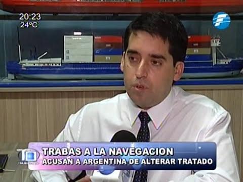 Paraguayos denuncian trabas de navegación en Argentina 26/09/2014