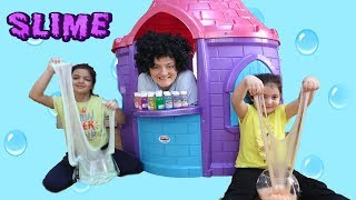3 Colors of Glue Slime Challenge , Fun kids video