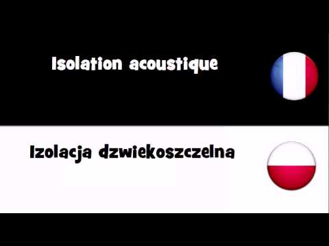 Dites le en 20 langues # Isolation acoustique