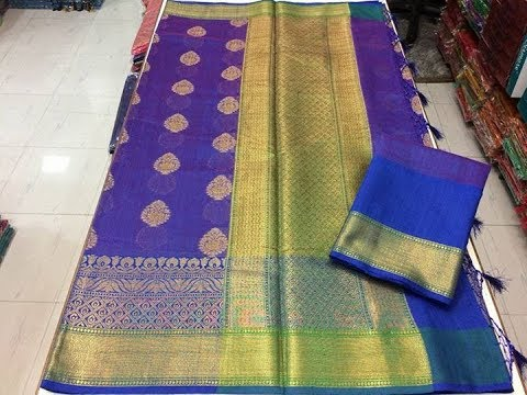 Top Trending Pure Handloom Linen Silk Sarees || pure soft linen silk saree