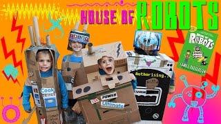 Family Fun Building Cardboard Box Robots!!