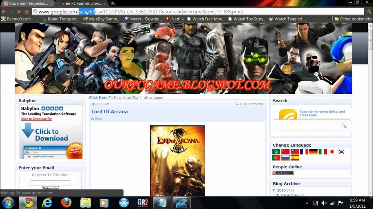 top 10 free full pc game download sites