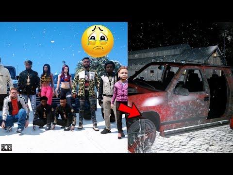 GTA 5 REAL LIFE MOD SS4 #25 SNOW FAMILY ROAD TRIP 😢