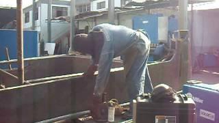 Fabricación compuerta de balde de pala Bucyrus 2 (17 toneladas c/u)