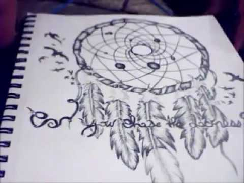 how to draw feathers on a dreamcatcher step by step