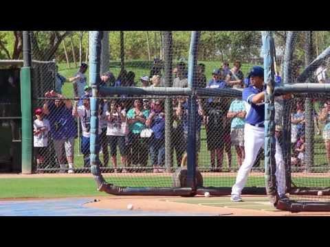 Matt Kemp, Andre Ethier, Hanley Ramirez, Adrian Gonzalez Spring Training Batting Practice