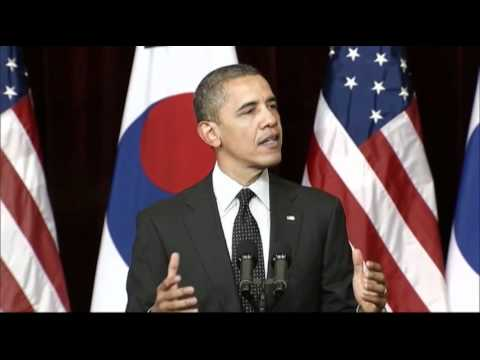 "Obama to North Korea: ""Have Courage"""