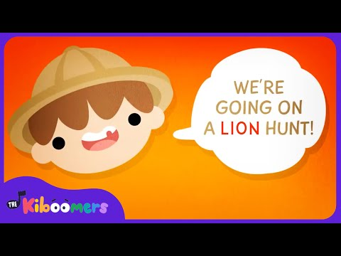 Were Going on a Lion Hunt Song  Kids Song  Camp Song  Animal Song  The Kiboomers