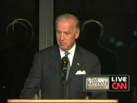 Edward Kennedy Memorial Service - VP Joe Biden (Part 1)