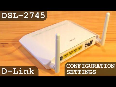 D-Link N300 Modem Router Wi-Fi n/b/g ADSL2+ DSL-2745   Unboxing - Setup - Configuration