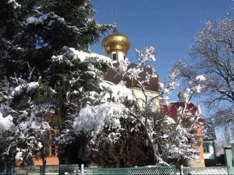 Кавказ. Псебай зимой. р.Лаба. Окрестные горы. Caucasus Laba