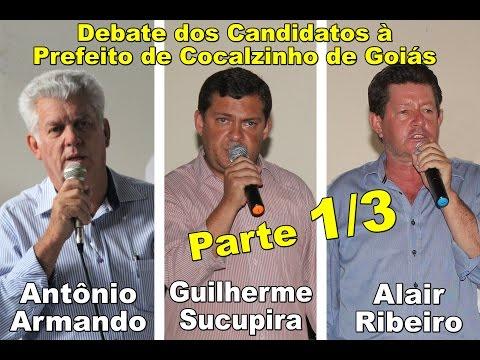 Debate dos candidatos à prefeito de Cocalzinho de Goiás. 24.09.2016. Parte 1 de 3