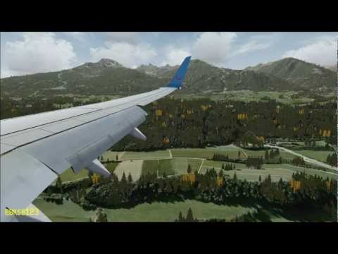 FSX HD 1080p - Landing Dangerous Innsbruck. as REAL as it gets! i7 2600k. GTX 560ti