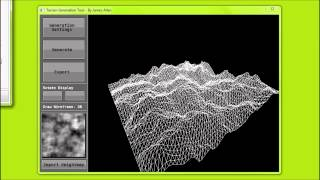 3D Terrain Generation Tool - Computer Science Final Year Project