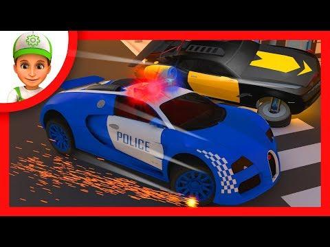 Мультфильм, где Винтик и полицейские машины ловят преступников - Мультфильм целиком - Хочу Знать Все