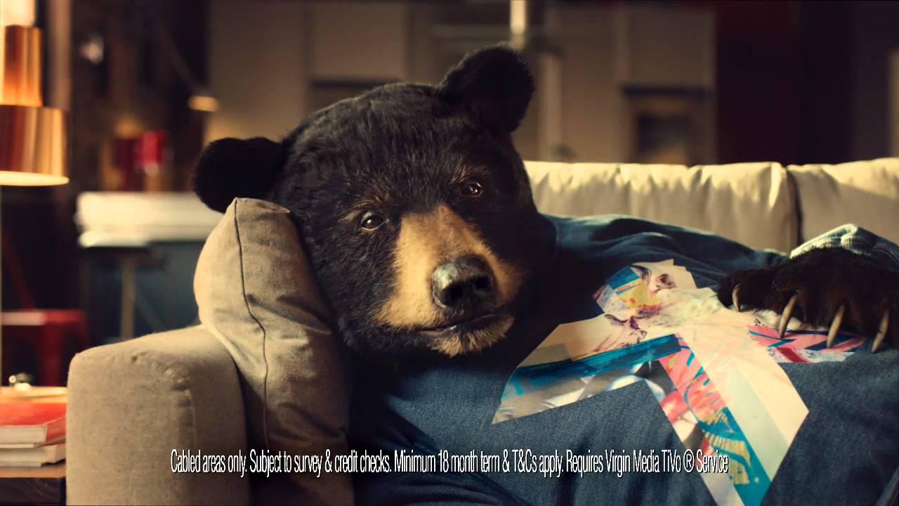 Introducing Sofa Bear A Fan Of Virgin Media S Big Kahuna