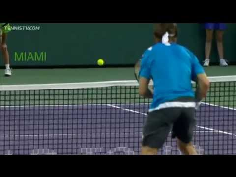 Novak Djokovic Hits Hot Shot In Miami Thursday