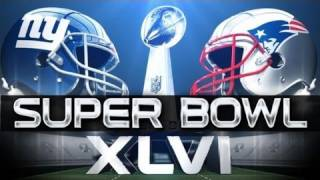 NFL: Super Bowl XLVI (Superbowl 46) Indianapolis 2012 -- Manning's NY Giants vs. Brady's NE Patriots