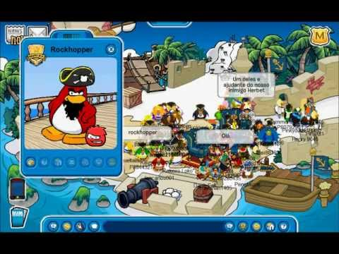 Club Penguin - Adventure Party 2011 - Meeting Rockhopper