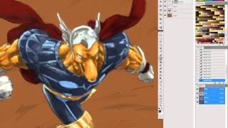 Photoshop Speed Paint of Beta Ray Bill over Pham sketch