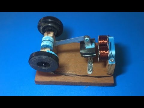 How to make a new engine for 2018,  a powerful electromagnet motor