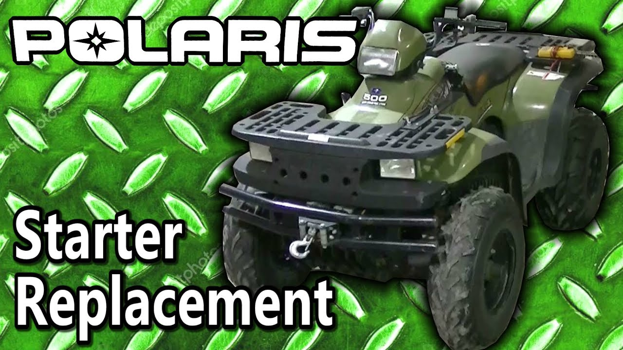 polaris sportsman 500 atv starter replacement youtube. Black Bedroom Furniture Sets. Home Design Ideas