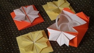 Japanese Traditional Origami 'the Folding Paper-case For Yarns'  1/2