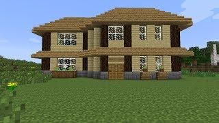 Play tuto minecraft faire une jolie maison en bois - Comment creer une belle maison dans minecraft ...