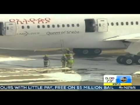 3rd victim dies after crash of Asiana Airlines Flight 214  & Queen of Sheba B787 caught Fire