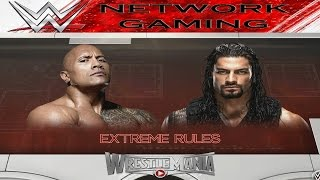 The Rock vs Roman Reigns Full Match WWE 2K16 Fantasy Dream Match