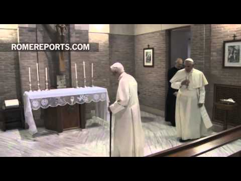 Pope Francis visits Benedict XVI to wish him a Merry Christmas
