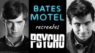 BATES MOTEL recreates PSYCHO -- (complete references)