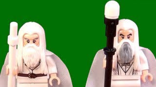 LEGO Gandalf and Saruman the White LEGO LOTR Comparison