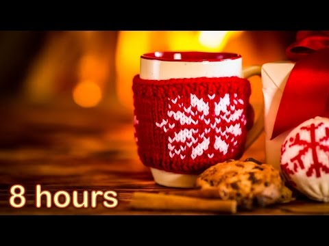 ☆ 8 HOURS ☆ CHRISTMAS MUSIC with Fireplace ♫ Christmas Music Instrumental ☆ Christmas Songs Medley ♫