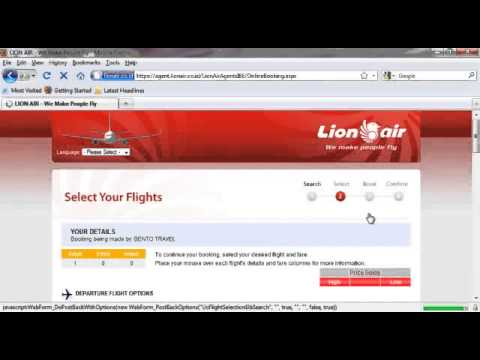 Cara Booking Lion Air