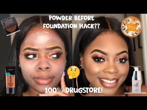 Jamiiiiiiiie | POWEDER BEFORE FOUNDATION HACK?! (BEGINNER) FLAWLESS DRUGSTORE FOUNDATION ROUTINE