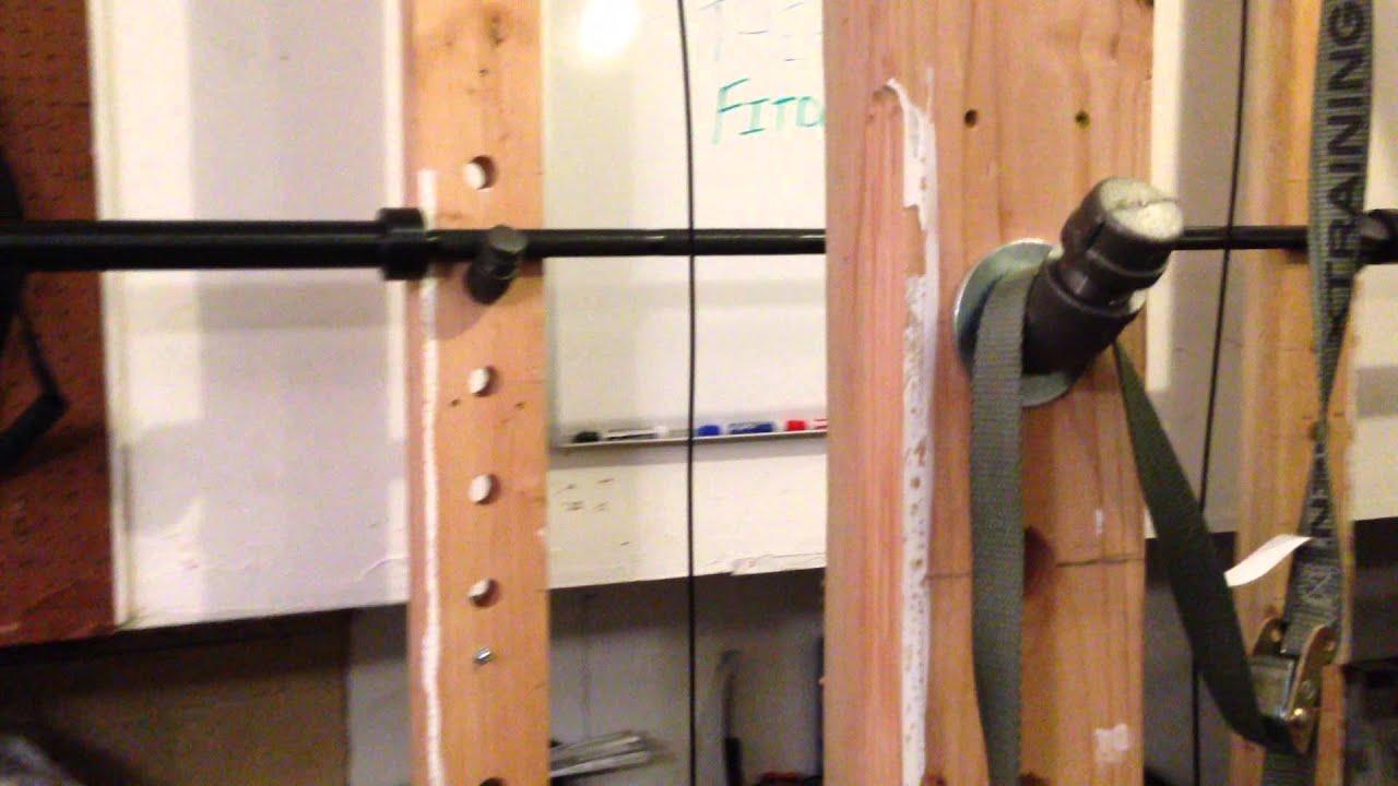wooden power rack
