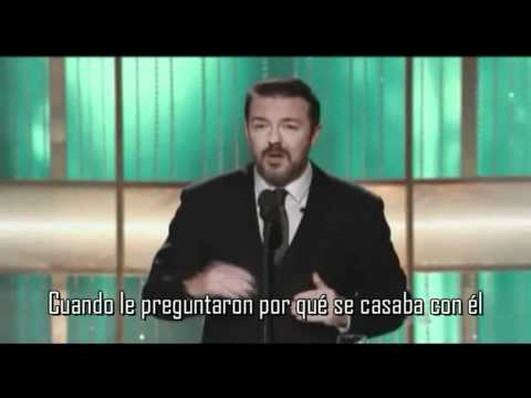 Thumbnail of video Ricky Gervais vs Hollywood - Globos de Oro 2011 (en español)