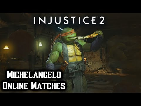 Injustice 2 TMNT DLC : Michelangelo Gameplay - Online Matches