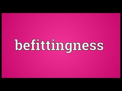 Header of befittingness